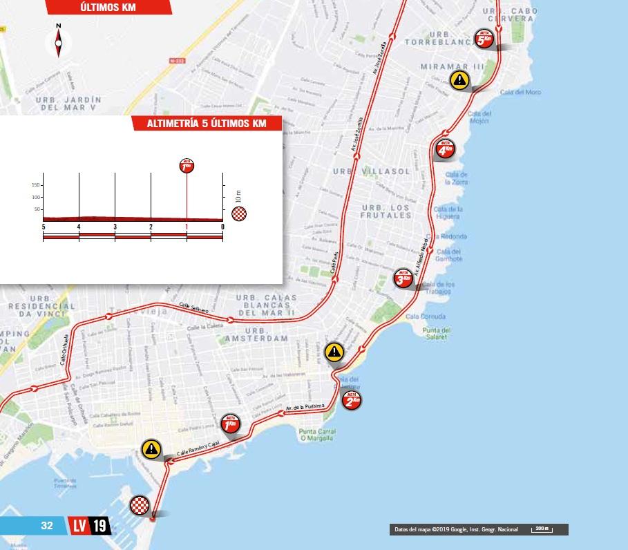Streckenverlauf Vuelta a España 2019 - Etappe 1, letzte 5 km