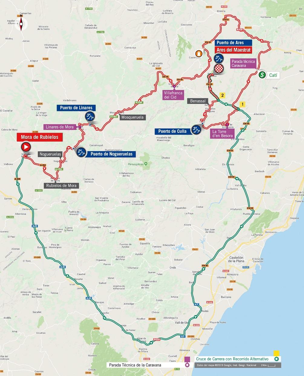 Streckenverlauf Vuelta a España 2019 - Etappe 6