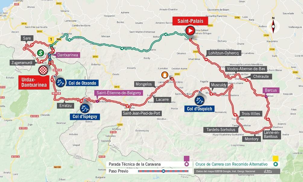 Streckenverlauf Vuelta a España 2019 - Etappe 11