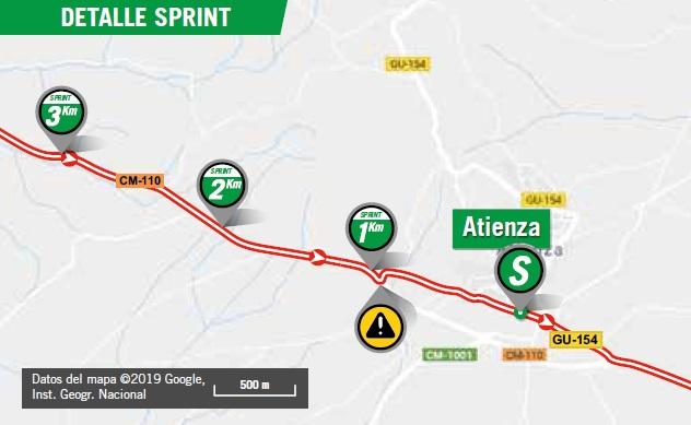 Streckenverlauf Vuelta a España 2019 - Etappe 17, Zwischensprint