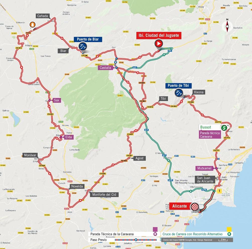 Streckenverlauf Vuelta a España 2019 - Etappe 3