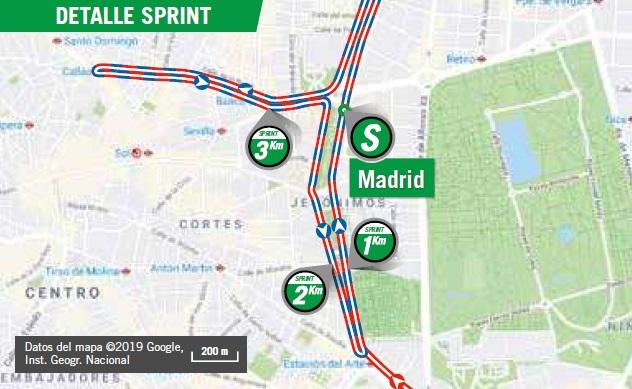 Streckenverlauf Vuelta a España 2019 - Etappe 21, Zwischensprint