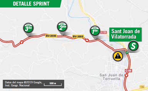 Streckenverlauf Vuelta a España 2019 - Etappe 8, Zwischensprint