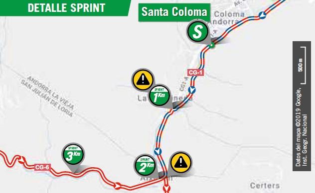 Streckenverlauf Vuelta a España 2019 - Etappe 9, Zwischensprint