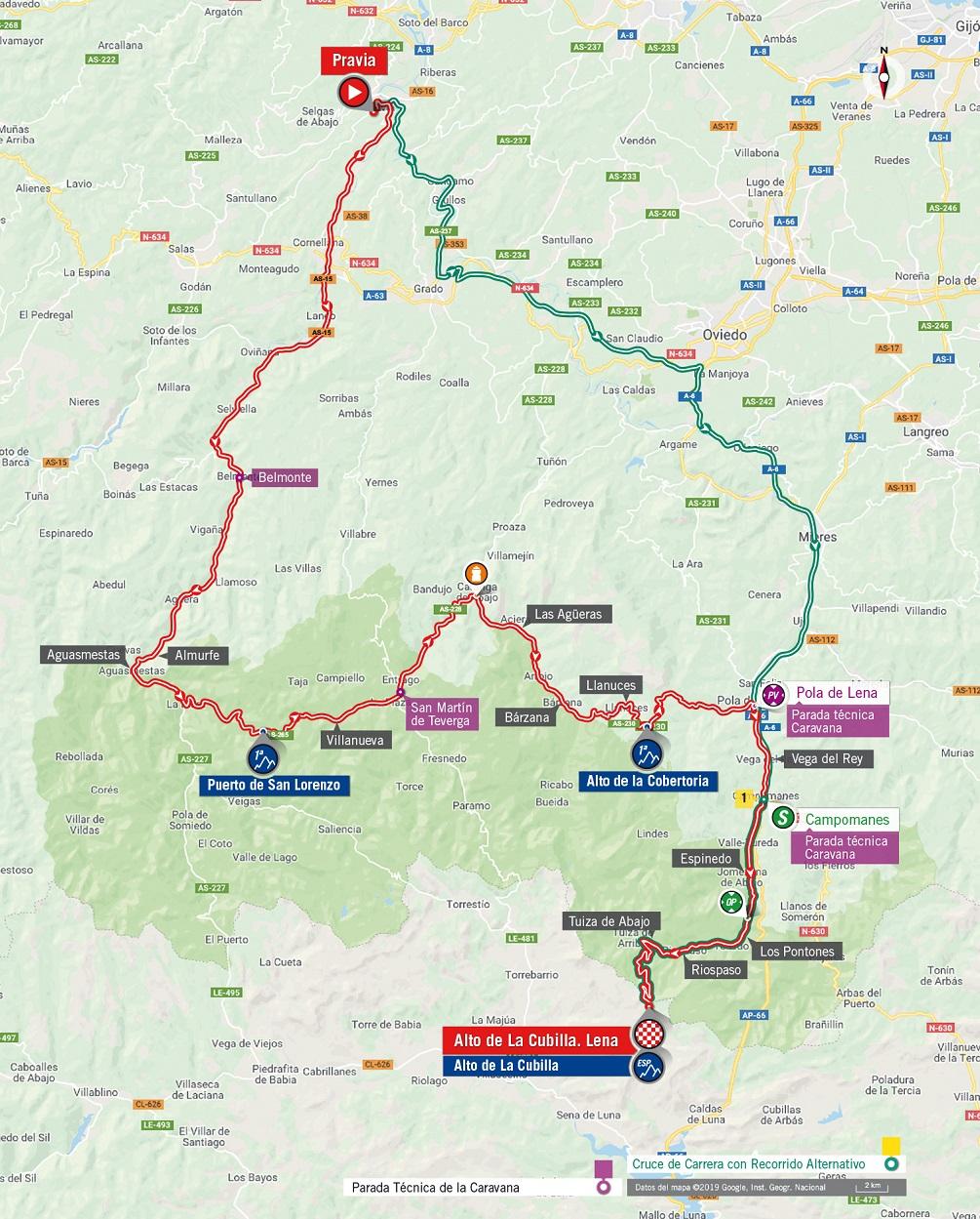 Streckenverlauf Vuelta a España 2019 - Etappe 16