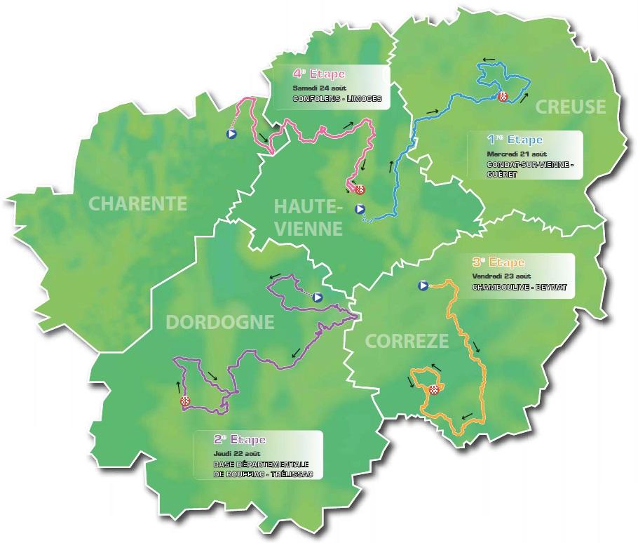 Streckenverlauf Tour du Limousin - Nouvelle Aquitaine 2019