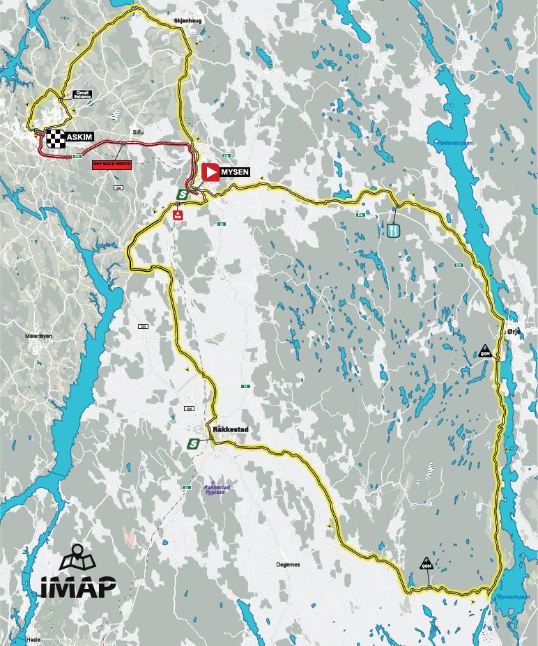 Streckenverlauf Ladies Tour of Norway 2019 - Etappe 2