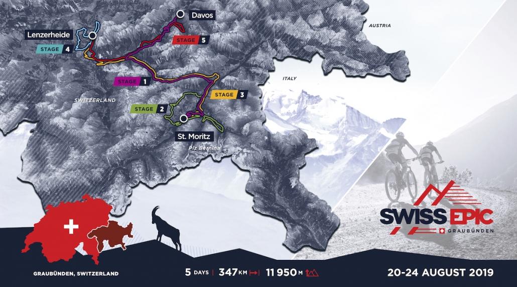 Streckenverlauf Höhenprofil Swiss Epic 2019