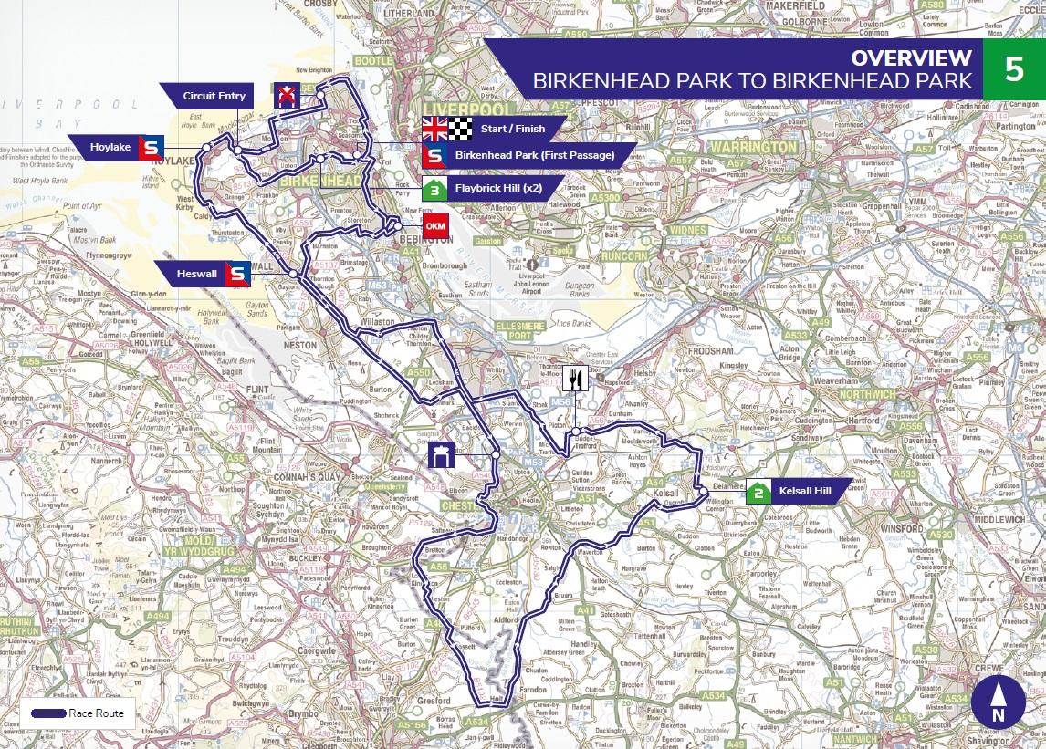Streckenverlauf OVO Energy Tour of Britain 2019 - Etappe 5