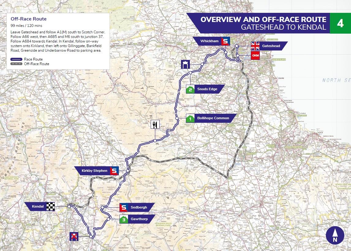 Streckenverlauf OVO Energy Tour of Britain 2019 - Etappe 4