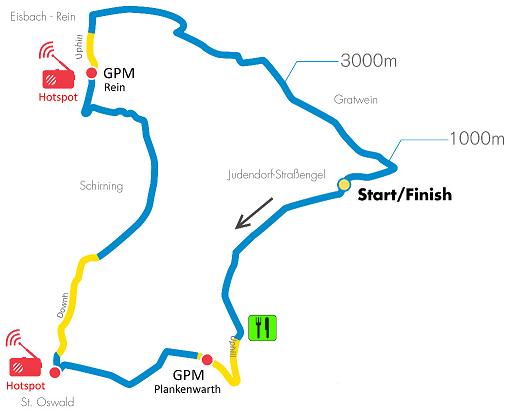 Streckenverlauf Int. Raiffeisen Grand Prix Gratwein-Straßengel 2019