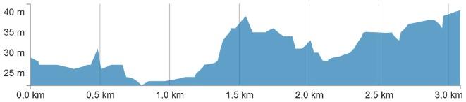 Höhenprofil Giro della Toscana - Memorial Alfredo Martini 2019, letzte 3 km
