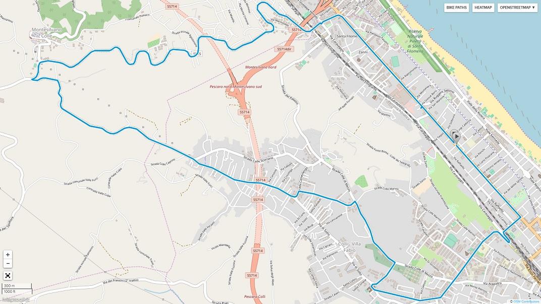 Streckenverlauf Trofeo Matteotti 2019