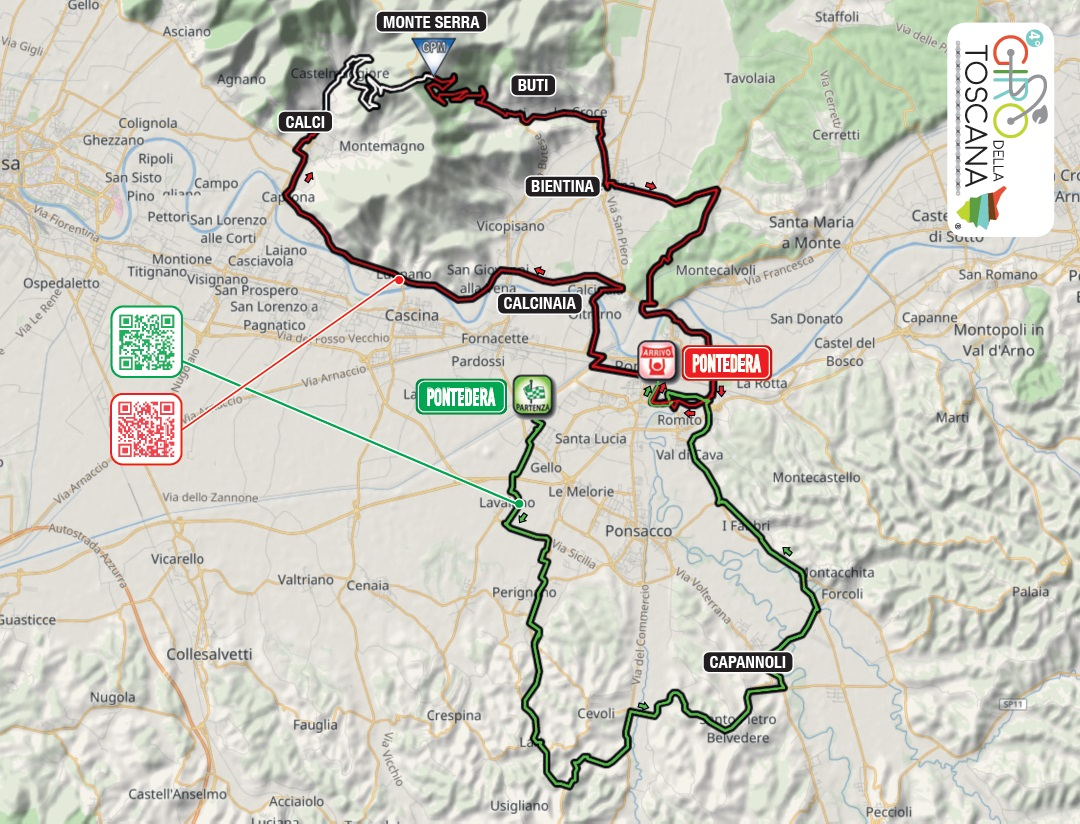 Streckenverlauf Giro della Toscana - Memorial Alfredo Martini 2019
