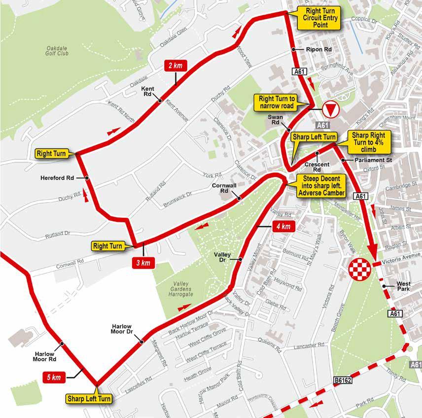 Streckenverlauf Straßen-WM 2019 - Mannschaftszeitfahren Mixed-Staffel, letzte 5 km