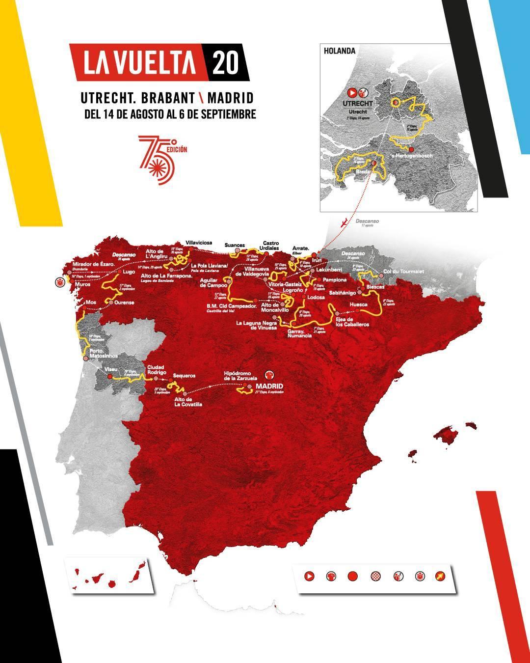 Präsentation Vuelta a España 2020: Streckenkarte
