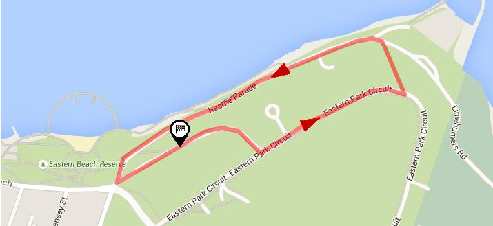 Streckenverlauf Bay Crits Männer 2020 - Etappe 2