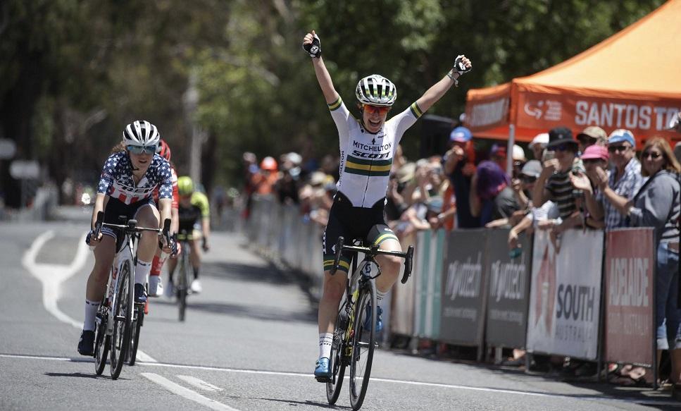 Amanda Spratt gewinnt die 2. Etappe der Women's Tour Down Under (Foto: twitter.com/tourdownunder)
