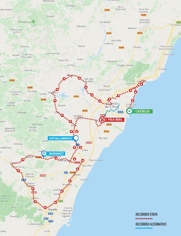 Streckenprofil Volta a la Comunitat Valenciana 2020 - Etappe 1