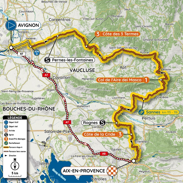 Streckenverlauf Tour de la Provence 2020 - Etappe 4