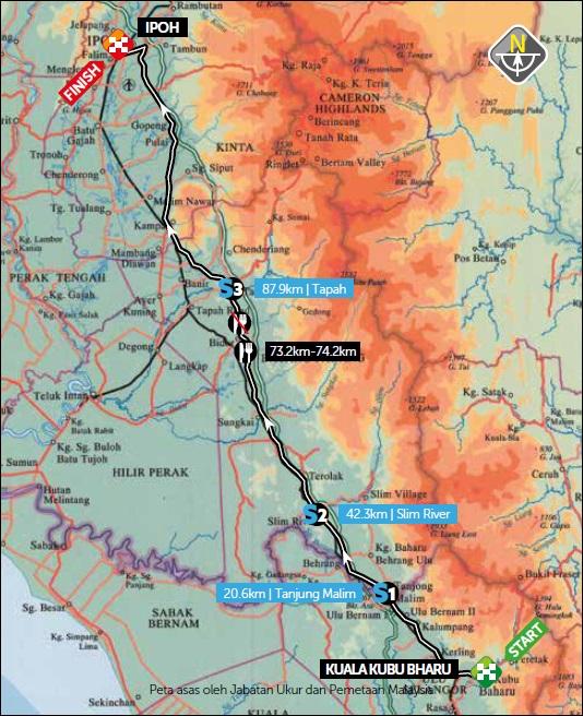 Streckenverlauf Petronas Le Tour de Langkawi 2020 - Etappe 5