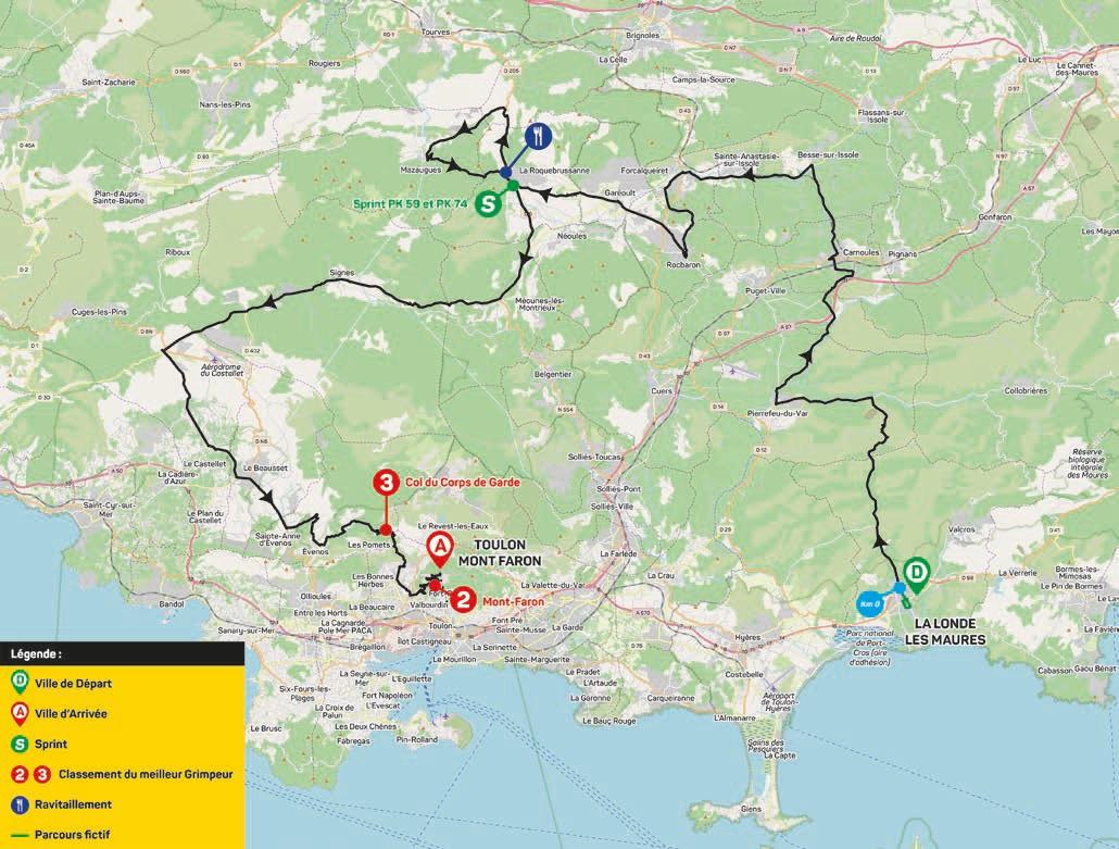 Streckenverlauf Tour des Alpes Maritimes et du Var 2020 - Etappe 3