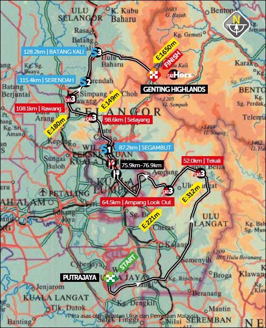 Streckenverlauf Petronas Le Tour de Langkawi 2020 - Etappe 4