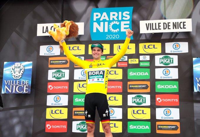 Maximilian Schachmann gewinnt die 78. Ausgabe von Paris-Nizza (Foto: https://twitter.com/ParisNice)