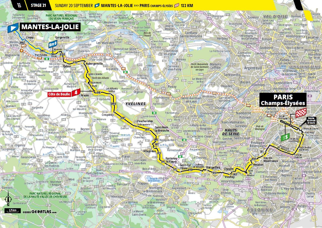 Tour De France 2021 2. Etappe Streckenverlauf