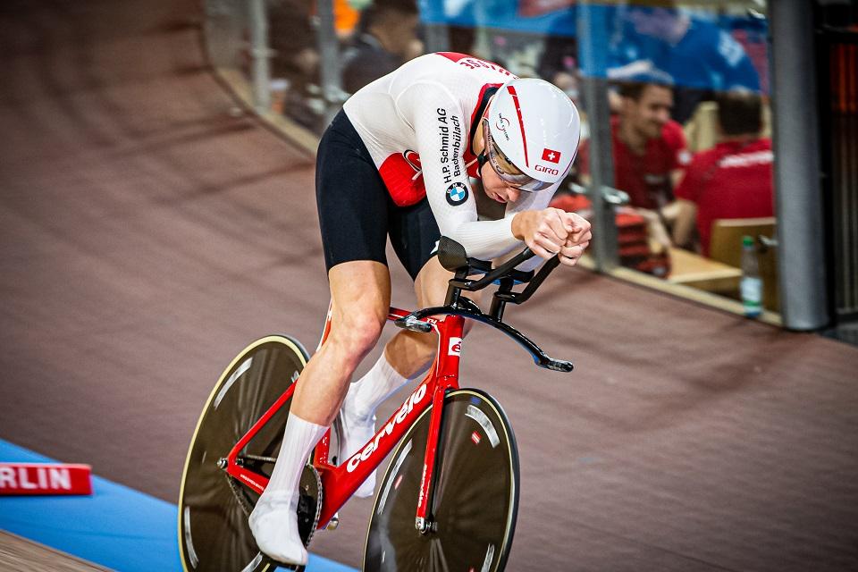 Claudio Imhof bei der Bahn-WM 2020 in Berlin (Foto:Wim Hoste/Swiss Cycling)
