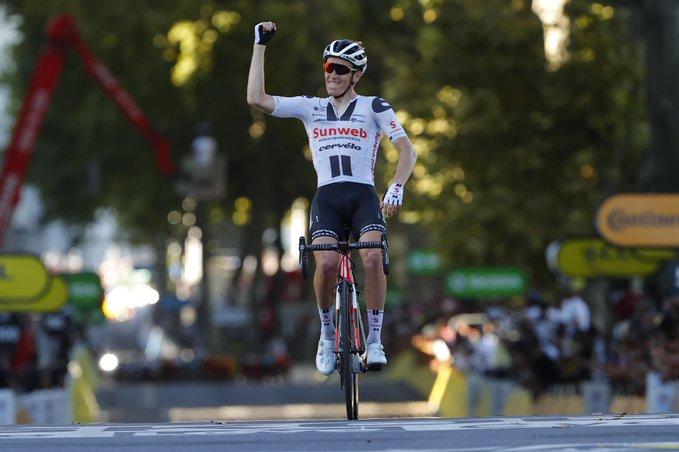 Søren Kragh Andersen macht den zweiten Tour-Etappensieg für das sehr offensive Team Sunweb perfekt (Foto: twitter.com/TeamSunweb)