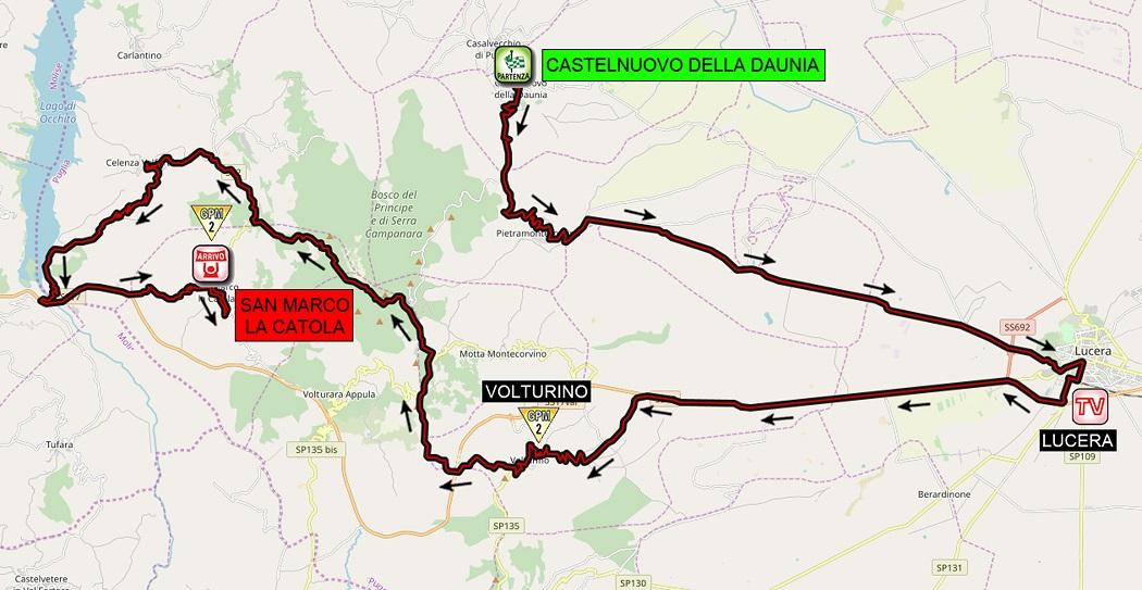 Streckenverlauf Giro d'Italia Internazionale Femminile 2020 - Etappe 8