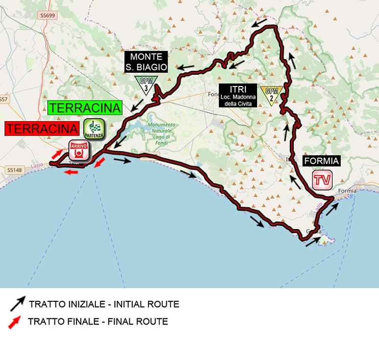 Streckenverlauf Giro d'Italia Internazionale Femminile 2020 - Etappe 5