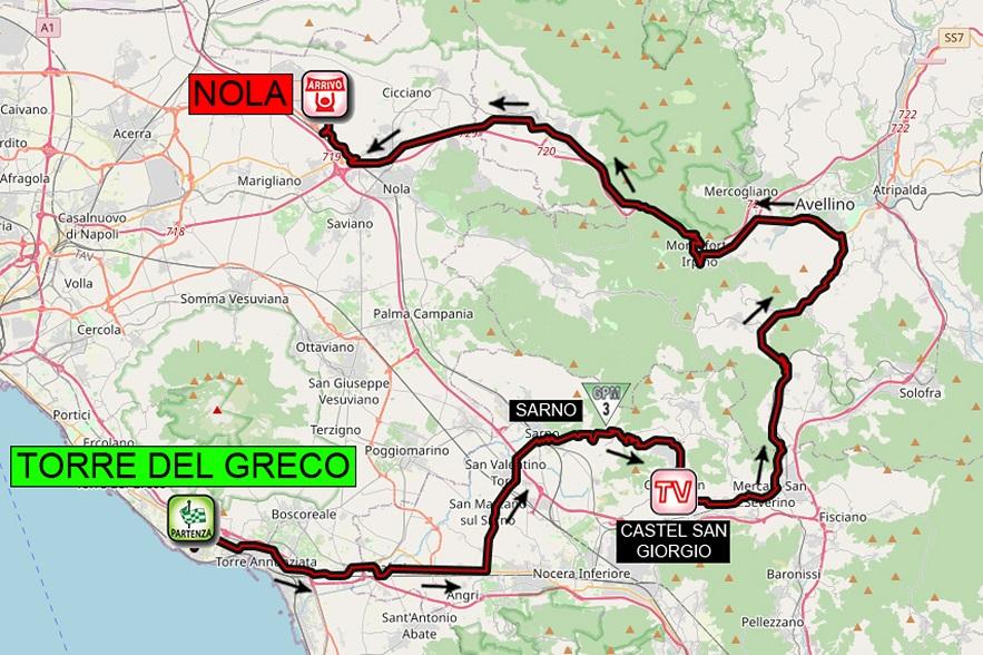 Streckenverlauf Giro d'Italia Internazionale Femminile 2020 - Etappe 6