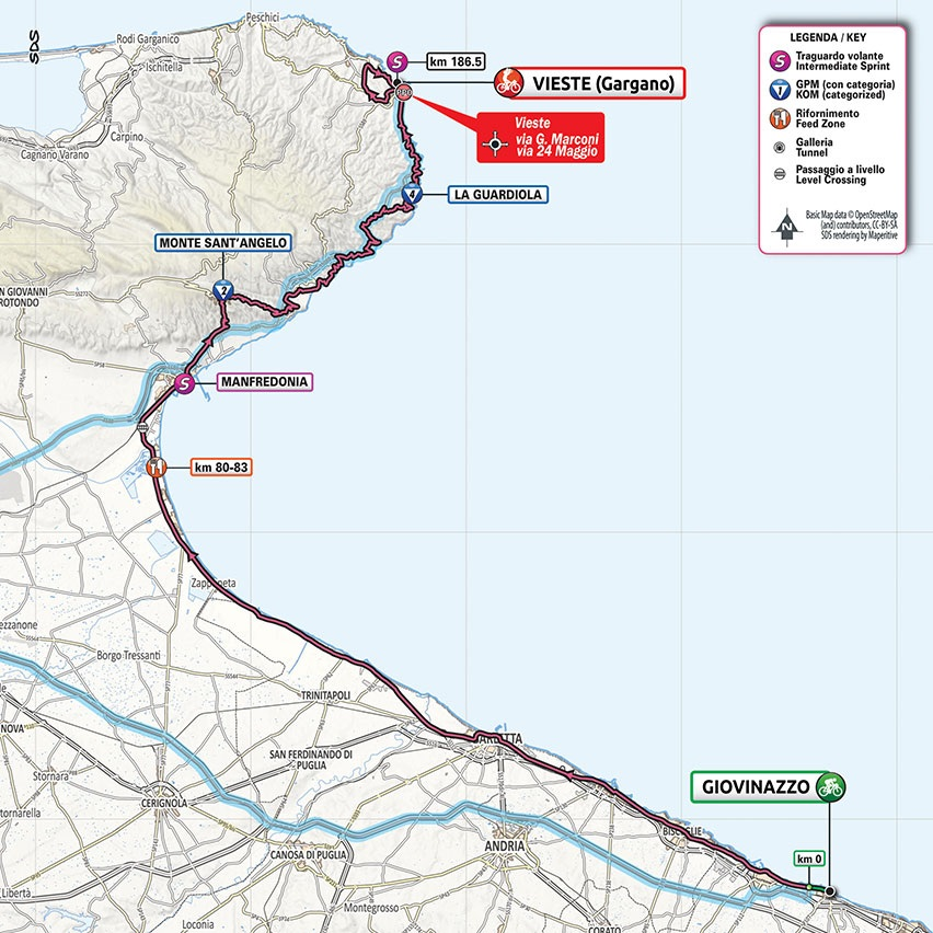 Streckenverlauf Giro d'Italia 2020 - Etappe 8
