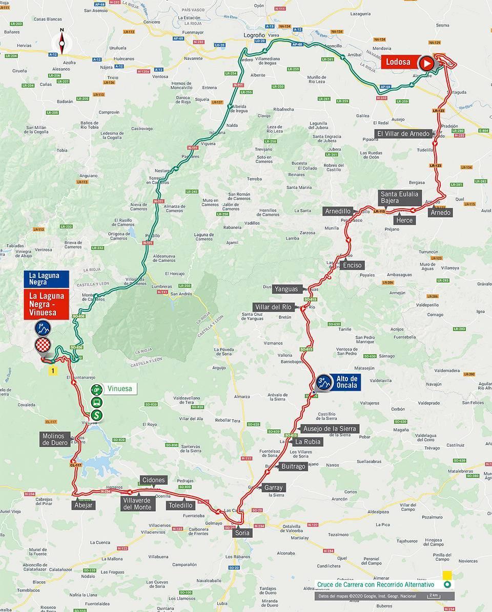Streckenverlauf Vuelta a España 2020 - Etappe 3