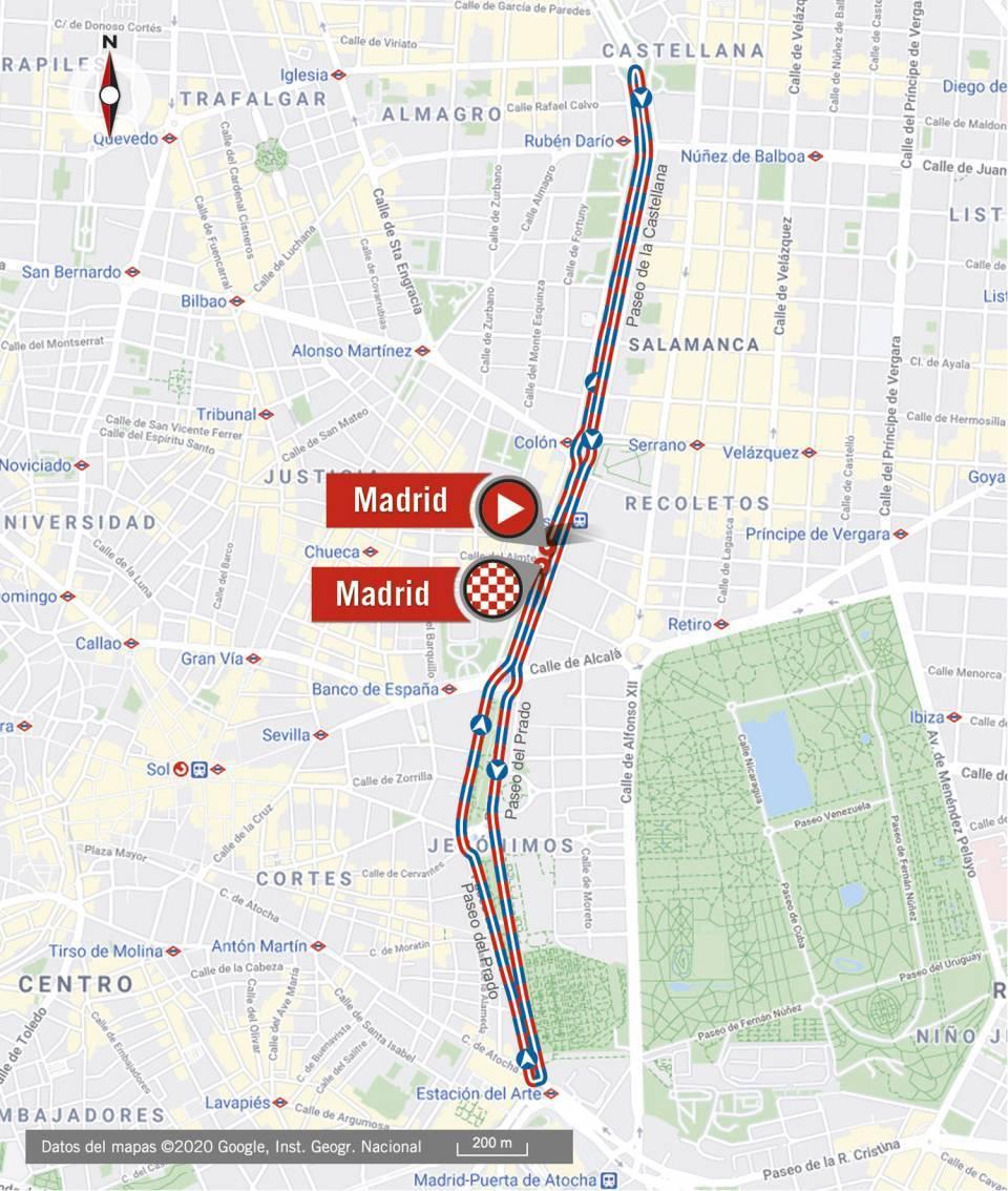 Streckenverlauf Ceratizit Madrid Challenge by la Vuelta 2020 - Etappe 3