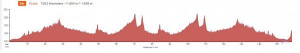 Höhenprofil New Zealand Cycle Classic 2020 - Etappe 2