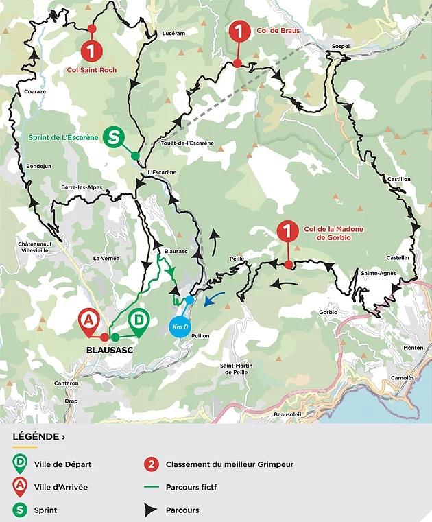 Streckenverlauf Tour des Alpes Maritimes et du Var 2021 - Etappe 3