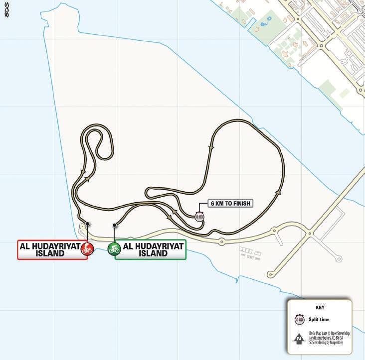 Streckenverlauf UAE Tour 2021 - Etappe 2