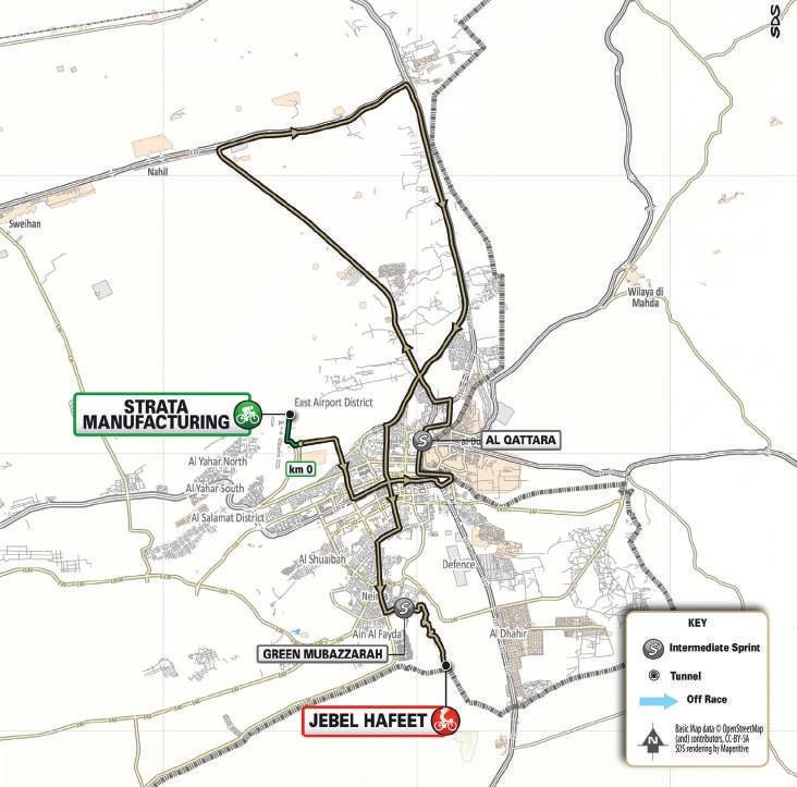 Streckenverlauf UAE Tour 2021 - Etappe 3