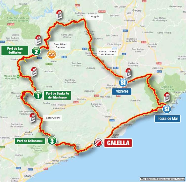 Streckenverlauf Volta Ciclista a Catalunya 2021 - Etappe 1