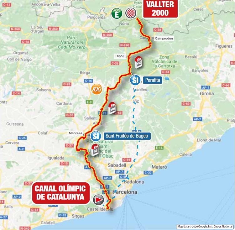 Streckenverlauf Volta Ciclista a Catalunya 2021 - Etappe 3