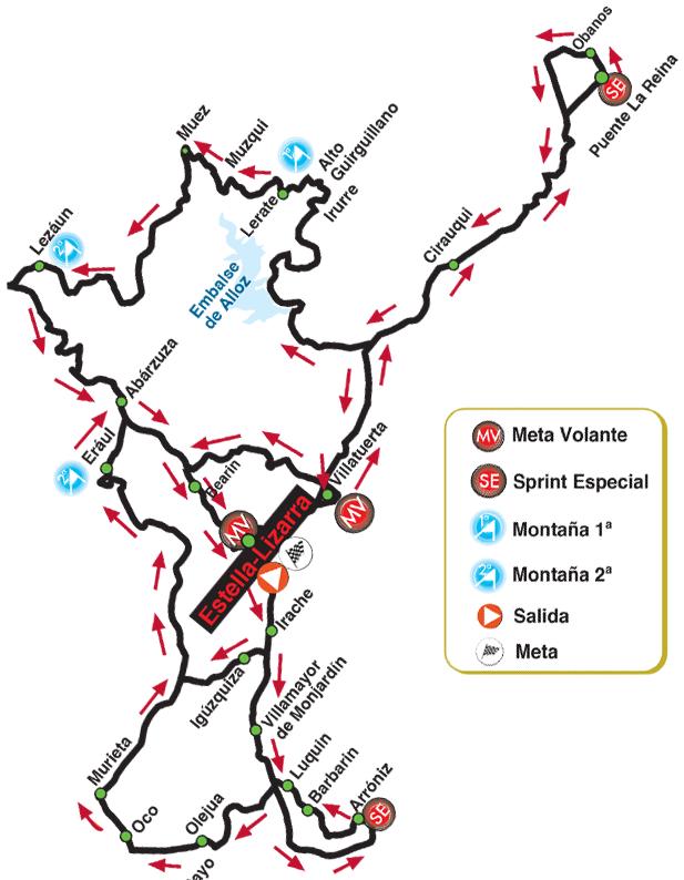 Streckenverlauf Gran Premio Miguel Indurain 2021