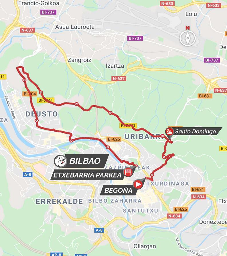 Streckenverlauf Itzulia Basque Country 2021 - Etappe 1