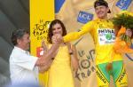 Eddy Merckx gratuliert Floyd Landis