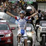 Ausreißersieg für Michele Scarponi bei Giro-Ankunft in Österreich