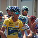 Der Führende in der Gesamtwertung Matteo Carrara (Team Vacansoleil) vorm Start zur 4. Etappe Circuit Lorraine