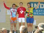 Siegerpodest Zeitfahren SM Frauen U23