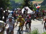 Tour de France - Tony Martin und Rinaldo Nocentini noch im weißen bzw im gelben Trikot auf dem Weg nach Verbier